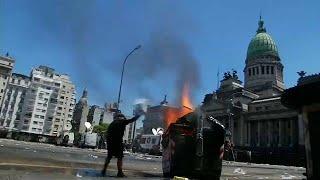 Protestas en Argentina por la reforma de las pensiones