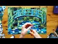 Monet The Water Lily Pond - A Paper Collage Time Lapse