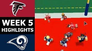 ~NFL~ Los Angeles Rams @ Atlanta Falcons WEEK 5 (ROBLOX HIGHLIGHTS)