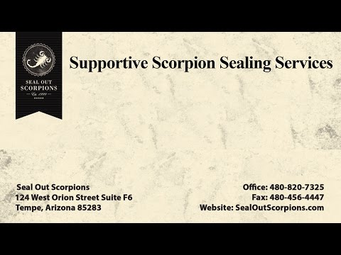 Supportive Scorpion Sealing Services