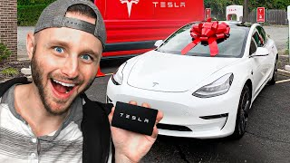 SURPRISING My FRIENDS with a FREE TESLA