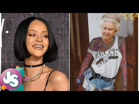Are Rihanna's Photoshops Of Queen Elizabeth II DISRESPECTFUL?! -JS