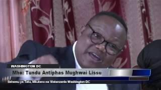 Mkutano wa Tundu Lissu Washington DC - Sehemu ya Tatu