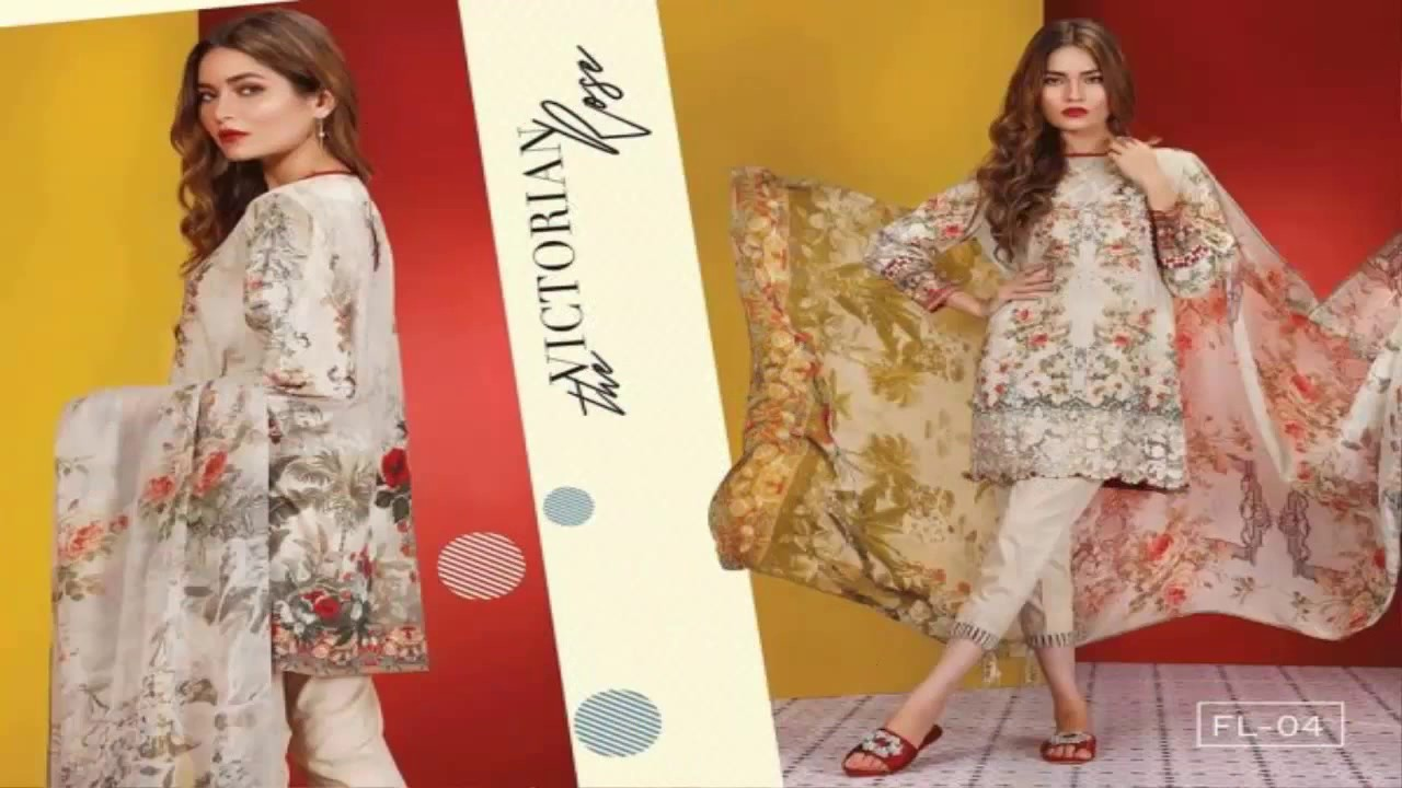 2fabaed2f1 Baroque Fashion New Fuchsia Lawn Collection 17 With price - YouTube