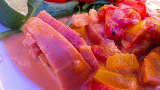 Hot sausage Stroganoff a la ChibiFreak