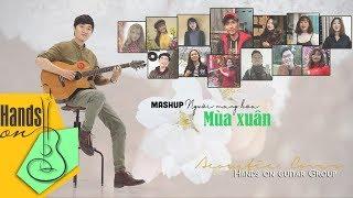 MASHUP Người mang hoa mùa xuân ✎ acoustic Cover by 14 Peeps of Hands on guitar Group