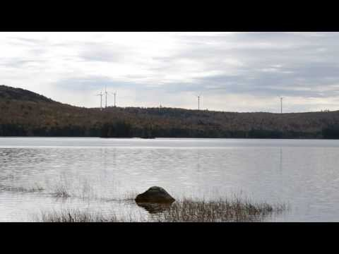 Rollins Mountain Wind Project Turbine Reflections