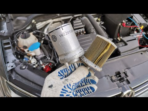 Замена топливного фильтра jetta 6 1,4 TSI Audi Polo Golf Rapid Skoda Seat Touran
