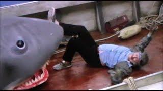 Jaws Quint's Death Rare Behind Scenes Film Shark Attack Orca Parody