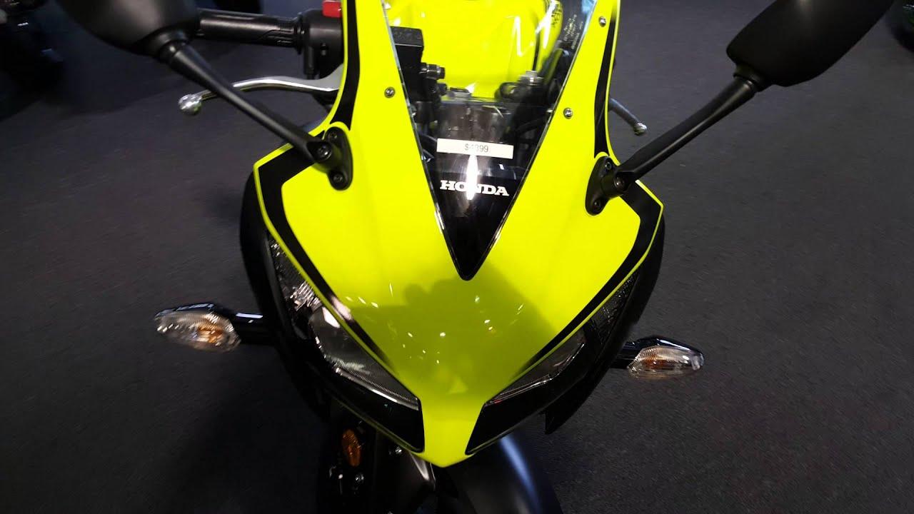 2016 Honda Cbr300r Bright Yellow Matte Black Youtube Cbr Headlight T Shirt