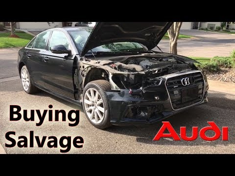Part 2: Rebuilding Wrecked Audi A6 from COPART