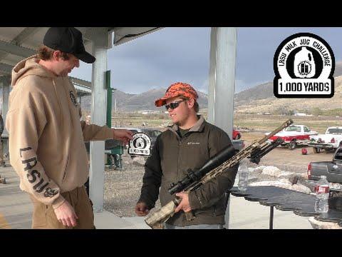 Long Range Shooting 6.5 Grendel vs Milk Jug 1000 Yards   LRSU Milk Jug Challenge Michael L