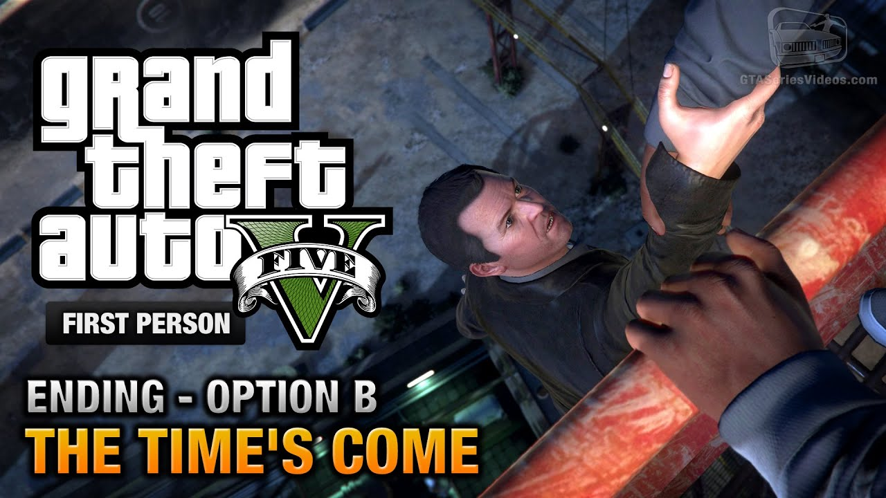 Gta  Final Mission Ending B The Times Come Michael First Person Gold Guide Ps Youtube