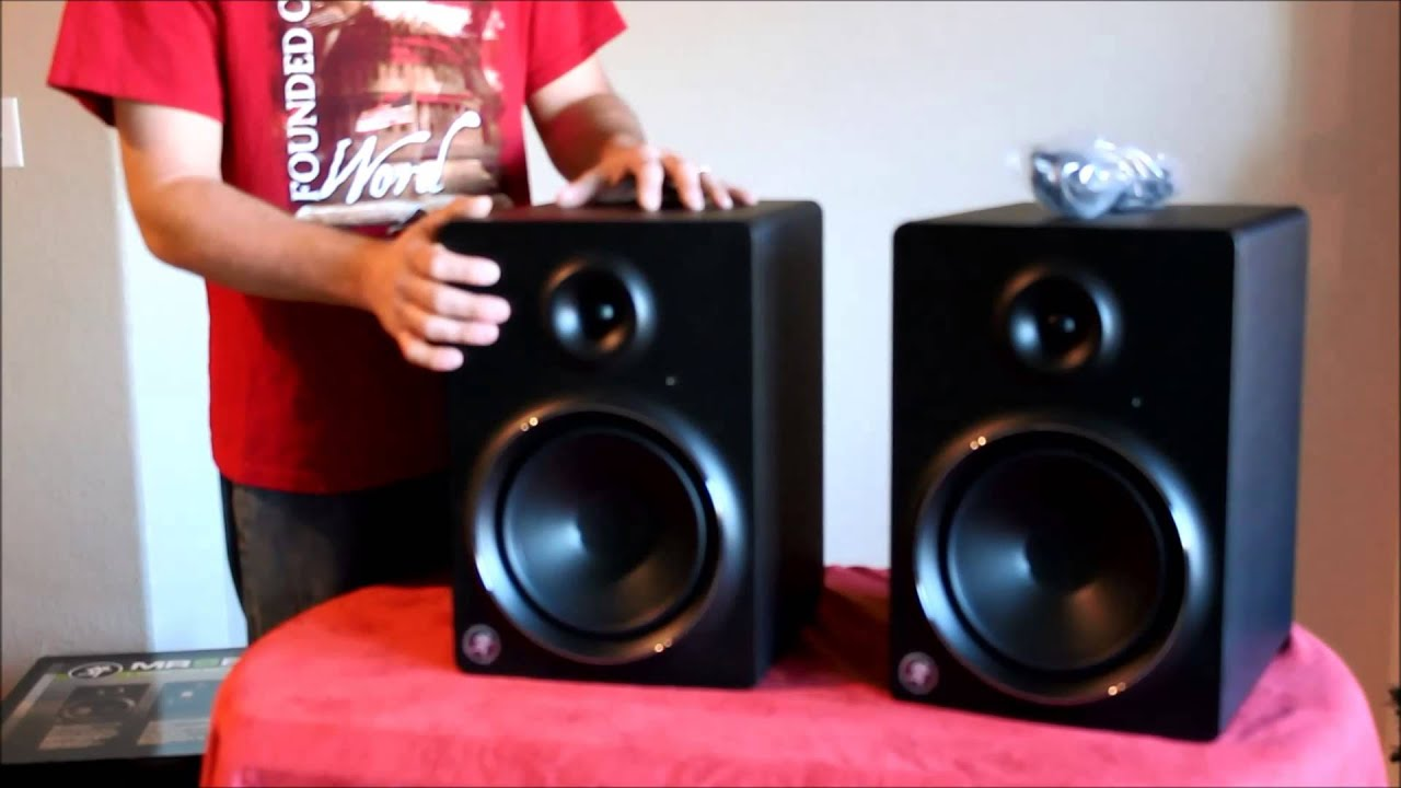 mackie mr8 mk2 studio monitor unboxing review youtube. Black Bedroom Furniture Sets. Home Design Ideas