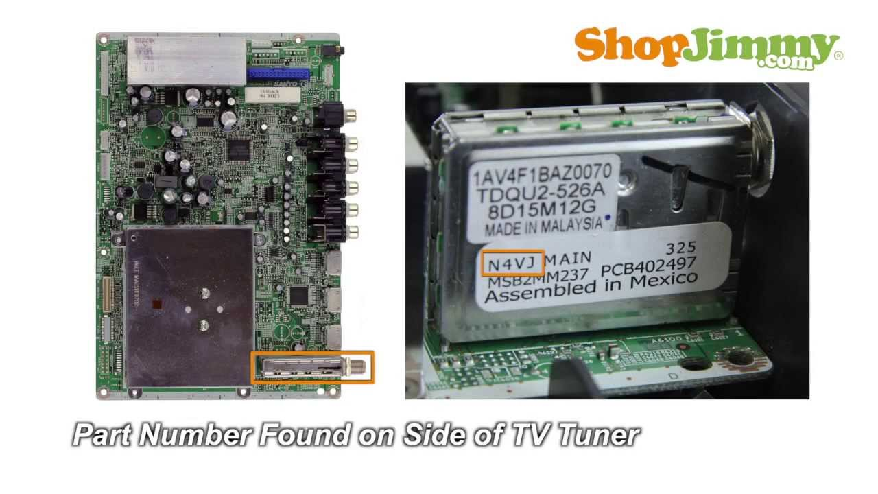 free sanyo n4vj main boards replacement guide for sanyo dp42848 lcd tv repair [ 1280 x 720 Pixel ]
