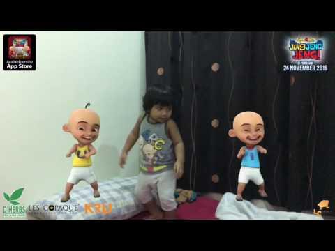 Baby Irfan dance with Malaysian animation Upin Ipin: Jeng Jeng Jeng! Song