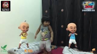 vuclip Baby Irfan dance with Malaysian animation Upin Ipin: Jeng Jeng Jeng! Song