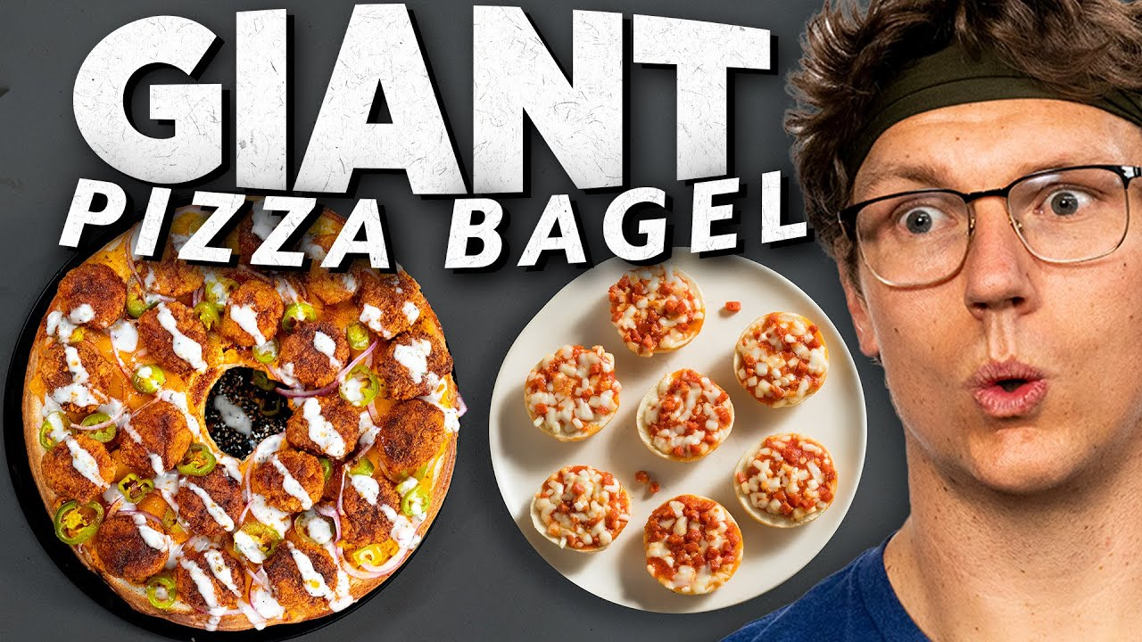 Josh Makes a Giant Pizza Bagel