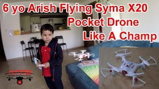 Kid amazes Dad with his drone flying skills