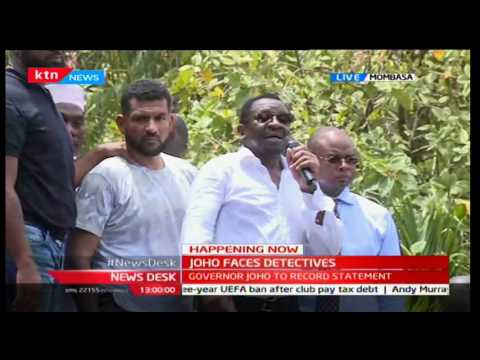 Senator James Orengo reassures Mombasa residents of defending Governor Joho's name
