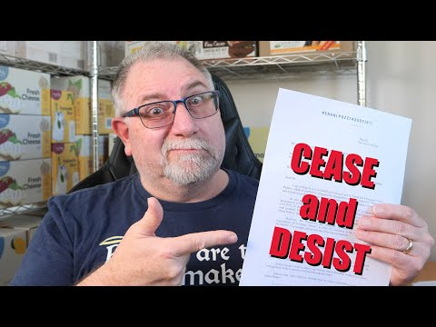 CEASE AND DESIST.  I NEVER THOUGHT THIS WOULD HAPPEN!