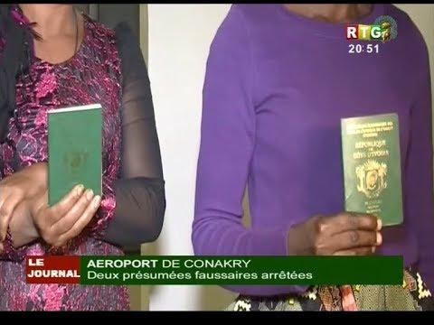 www.guineesud.com - Arrestation de 2 faussaires à l'aéroport de Conakry. Le 9 février 2019
