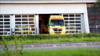 Spoedrit motorambulance en ambulance