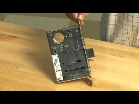 How to replace new mortise lock style door knob
