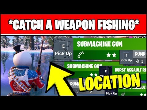 CATCH WEAPONS FROM FISHING SPOTS Locations (Fortnite Challenges)