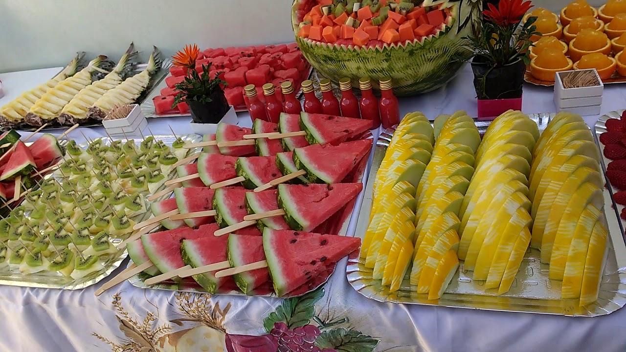 Mesa de frutas irada! YouTube -> Decoração De Frutas Para Mesa