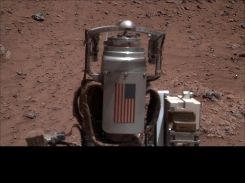 Mars Opportunity Rover Strange Metal Objects by Angie Davis