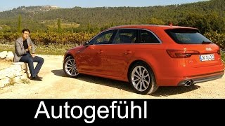 Audi A4 Avant Estate/Wagon/Kombi FULL REVIEW test driven quattro all-new neuer 2016