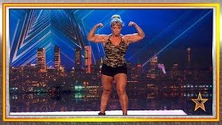 ¡La mujer forzuda! ¿Listos para que Pepa vapulée al jurado? | Audiciones 3 | Got Talent España 2019