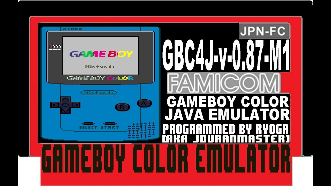 Gameboy color emulators - Gbc4j V 0 87 M1 Gameboy Color Emulator Java Terminator 2 The Judgment Day