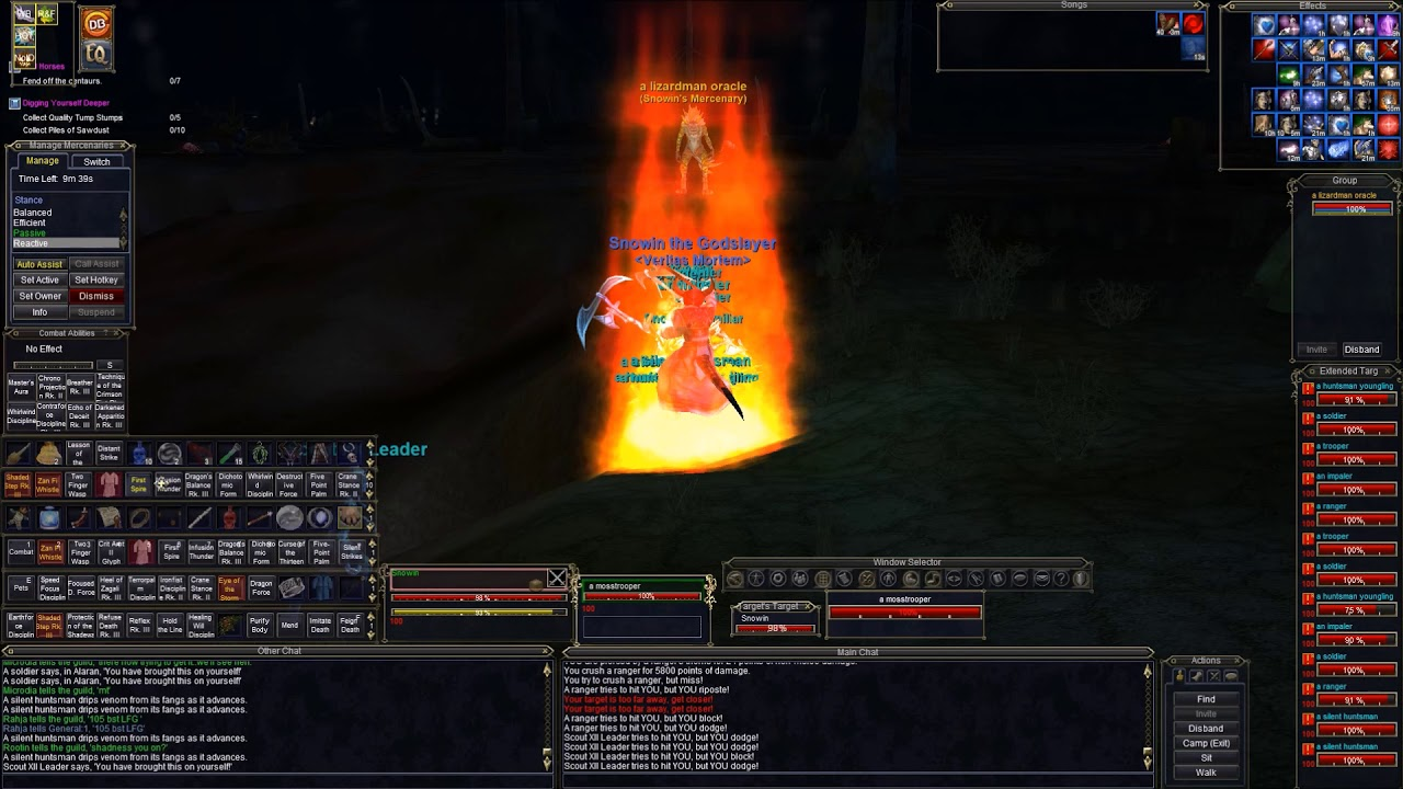 Everquest Monk Swarm kite and Burn rotation