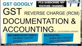 GST Reverse Charge (RCM) ACCOUNTING ENTRIES & INVOICE - UNREGISTERED DEALER plus DOCUMENTATION*