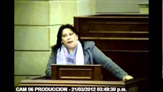 Intervención Representante Gloria Stella Díaz en Plenaria de Cámara, Denuncia Saludcoop.