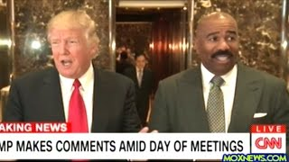 Repeat youtube video After Meeting With Donald Trump Steve Harvey Steps Up To The Mic At Trump Tower