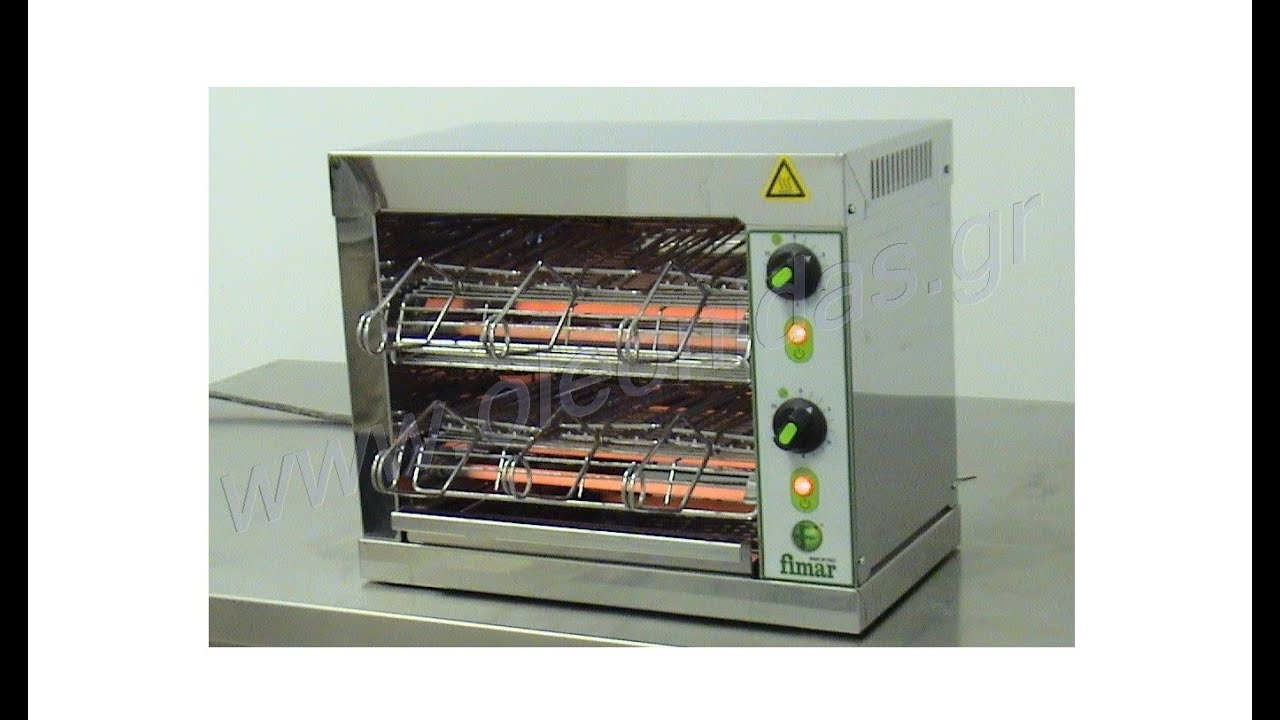 Επαγγελματική Τοστιέρα- Φρυγανιέρα - Toaster TOP 6D - YouTube 6c5bf9b8bc6