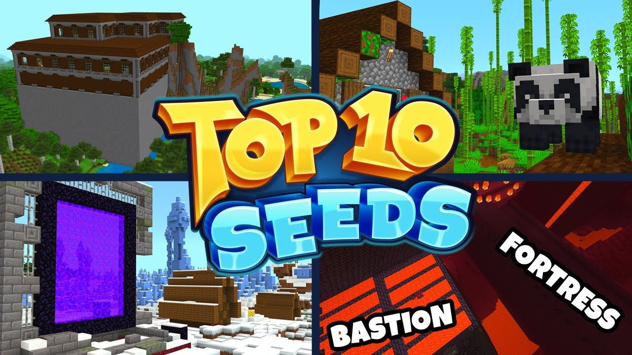 Top 10 Best New Seeds For Minecraft 1 16 Bedrock Edition Pocket Edition Xbox Ps4 Switch W10 Youtube