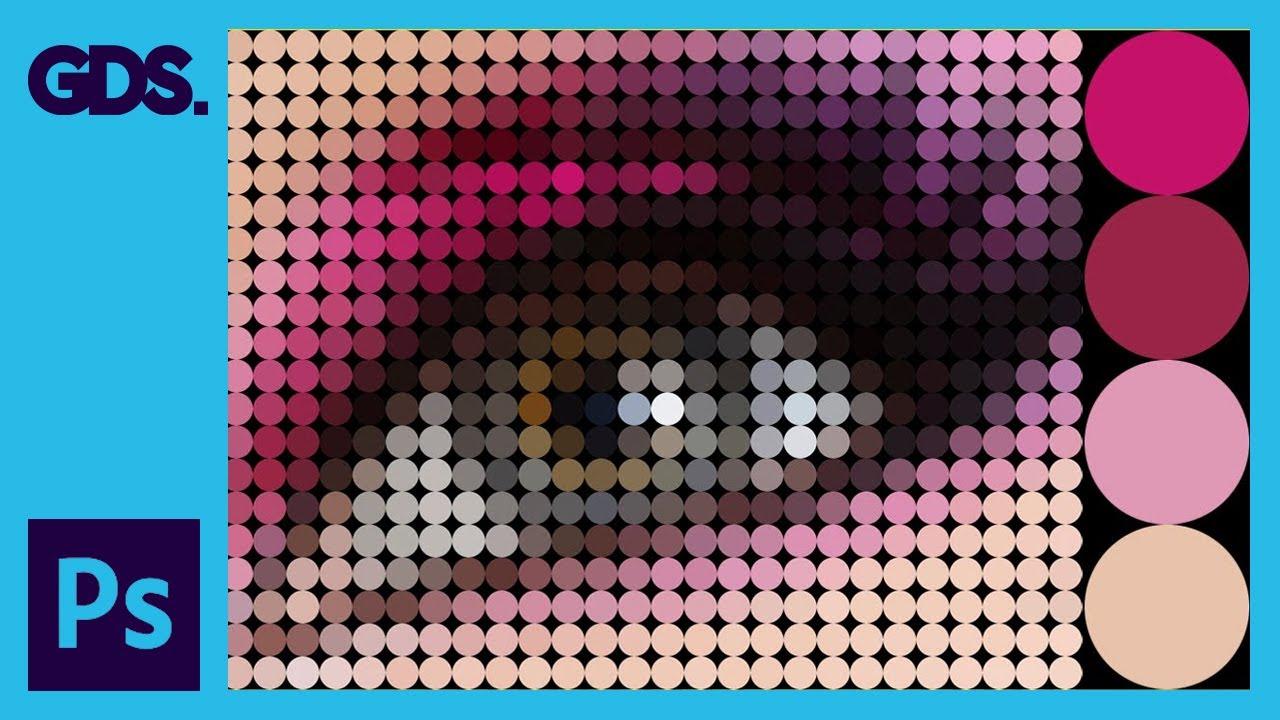 Circle dot pixel effect in adobe photoshop
