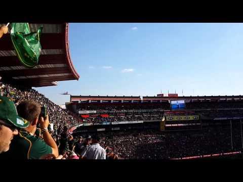 Springboks vs All Blacks: Jet flies over Ellis Park stadium