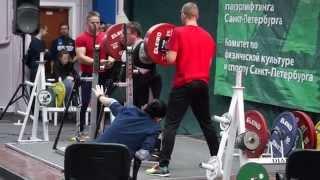 Приседания 280 кг. рекорд С-Петербурга С. Андрианов