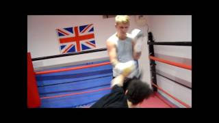 PRINCE CONNELL IN SPARRING MODE@THE 15TH ROUND BOXING ACADEMY