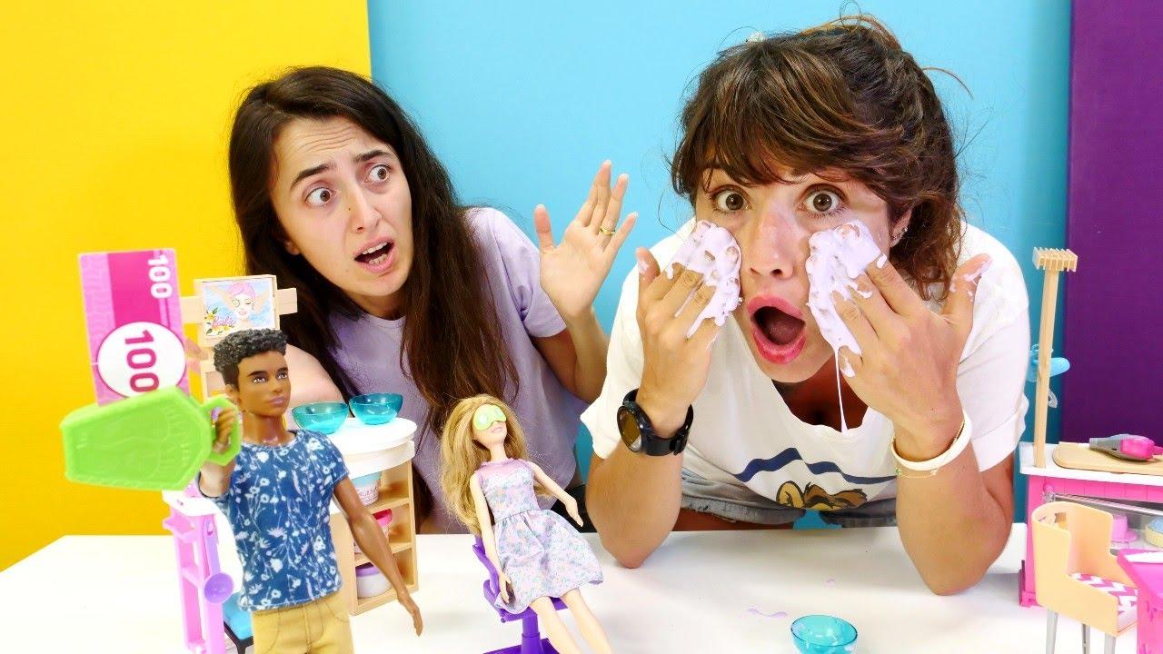 Komik Video! Kuaför Kafe seyyar satıcı geliyor! Sevcan ve Ümit ile kız oyunları