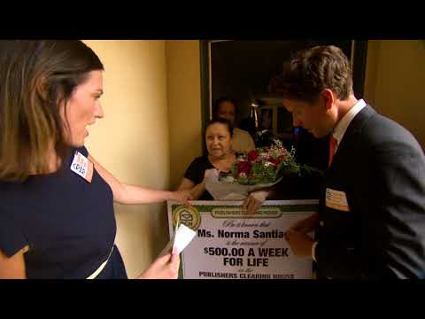 Publishers Clearing House Winners: Norma S from Oceanside, California wins $500 a week for life