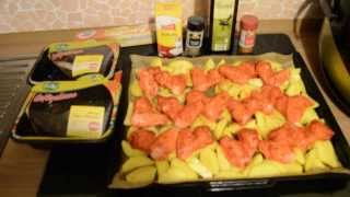 Готовим вкусно и быстро: Курица с картошкой в духовке.