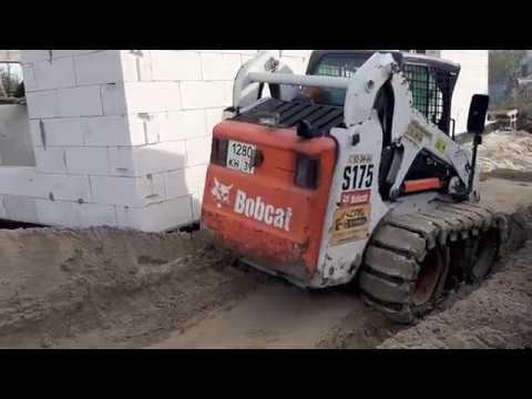Тест вездехода Бобкэт. Бобкет погрузчик с гусеницами McLaren поверх колес. Спецтехника39 Калининград