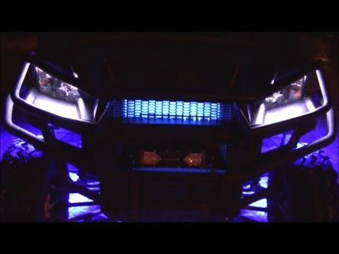 Polaris Ranger 900 Grille Accent Lighting Partsam Blue LED