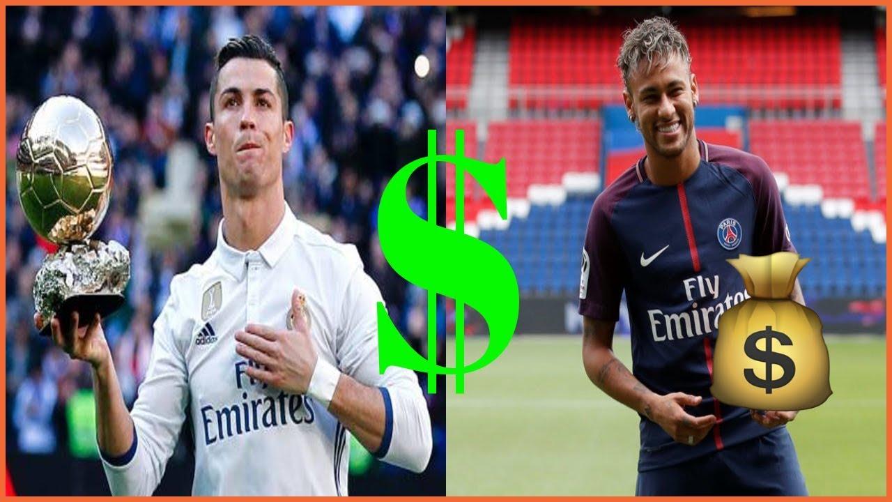 Top 10 Des Footballeurs Les Plus Riches Du Monde En 2018 Youtube